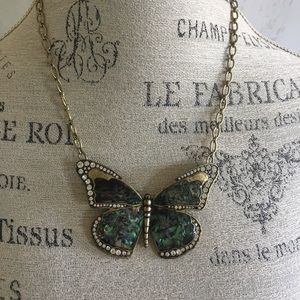 Brass Butterfly Necklace